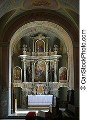 祭壇, 中に, ∥, 古い教会