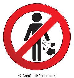禁止される, 人々, farting, 印