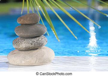 禅, ピラミッド, 石