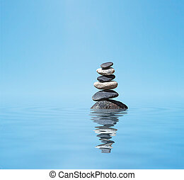 禅, 石, 山, バランスをとられた