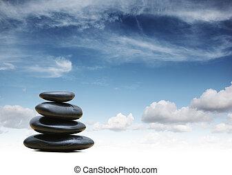 禅, 石, 背景