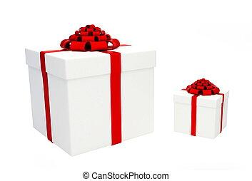 禮物, 上, a, 白色 背景