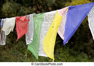 禱告, 旗, 不丹