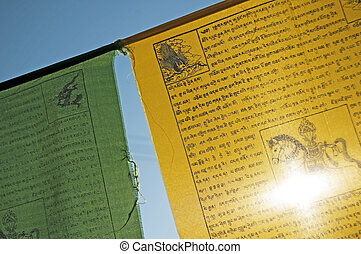 禱告, 旗, ......的, 西藏