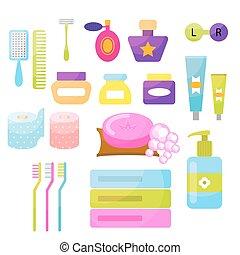 私人的衛生保健, 矢量, items.