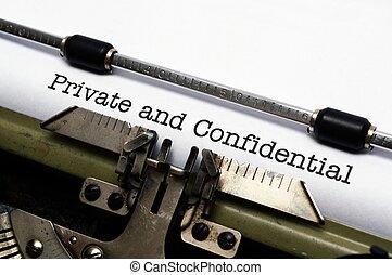 私用, 機密