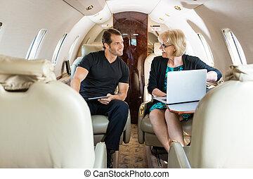私用, 論じる, ジェット機, ビジネス 人々