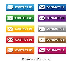 私達に連絡しなさい, ボタン