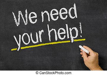 私達, 助け, 黒板, テキスト, 必要性, あなたの