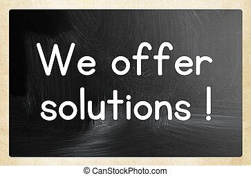 私達, 提供, solutions!