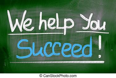 私達, 概念, 助け, 成功しなさい, あなた