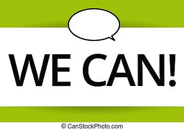 私達, 概念, 単語, 成功, ビジネス, can., テキスト, 一緒に, 執筆, 仕事, 結果, ポジティブ, eyeing, 目的を達しなさい