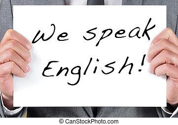 私達, 話す, 英語