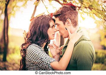 私, お気に入り, 私, 接吻