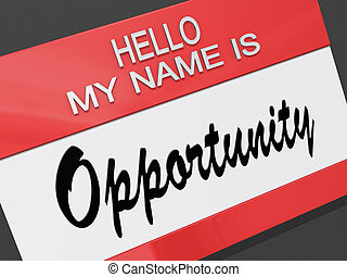 私, こんにちは, 名前, opportunity.