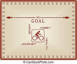 私, サイクリング, ゴール