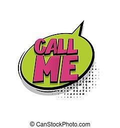私, レタリング, テキスト, スピーチ, 呼出し, 漫画, 泡