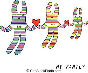 私, 家族, うさぎ, 漫画