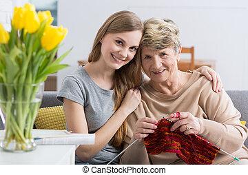 私, 最も良く, friend!, 祖母