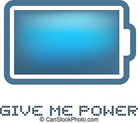 私, 電池, メッセージ, 力, 弾力性