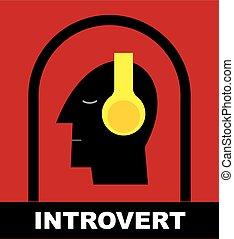 私, 頭, set., ヘッドホン, solitude., time., 人間, introvert.