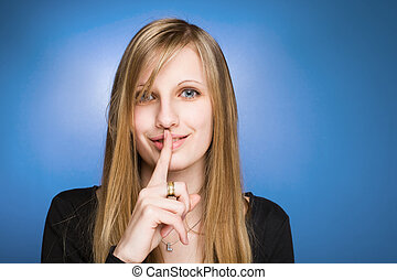 私, secret...