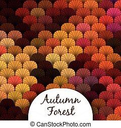 秋の森林, 手ざわり, うろこ状