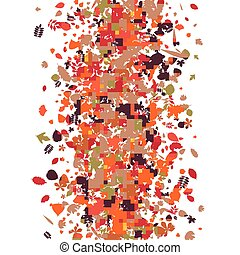 秋天, 圖案, 離開, 樹, 明亮