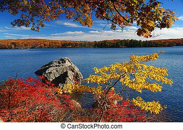 秋天, 山湖
