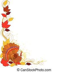 秋天, 火雞, 邊框