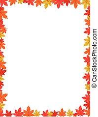 秋天, 邊框, 設計