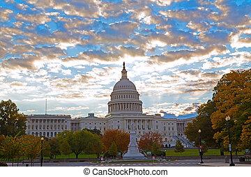 秋天, 顏色, 州議會大廈, 我們