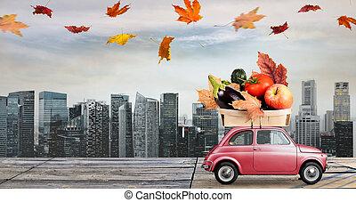 秋天, 食物, 交付