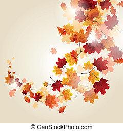 秋季树叶, 矢量
