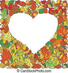 秋季树叶, 矢量, 背景