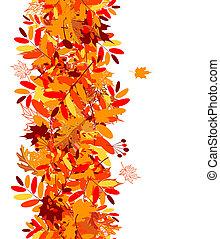 秋季树叶, seamless, 背景