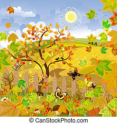 秋季, 乡村的地形