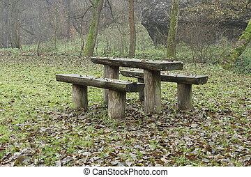 秋季, 在公园中