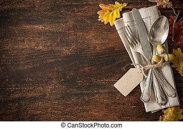 秋季, 放置, 地方, 感恩