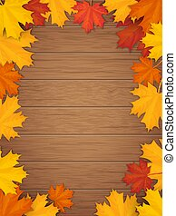 秋季, 木制, 离开, 背景