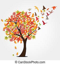 秋季, 树