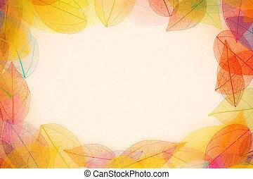 秋季, 框架