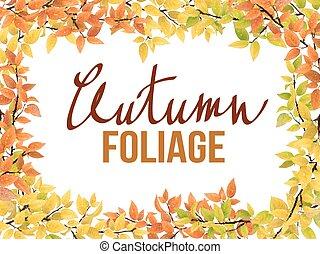 秋季, 框架, 离开