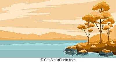 秋風景, 湖