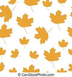 秋, オレンジ休暇, セット, かえで
