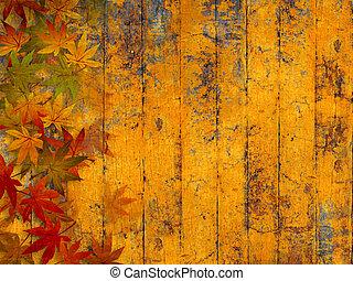 秋, グランジ, 背景