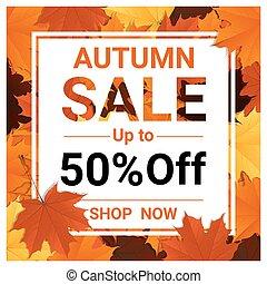 秋, セール, 旗, ∥で∥, カラフルである, 葉, 3
