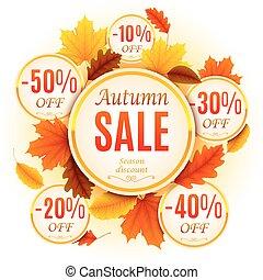 秋, セール, 背景