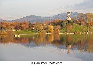 秋, ドイツ語, 湖