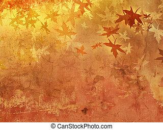 秋, パターン, 背景